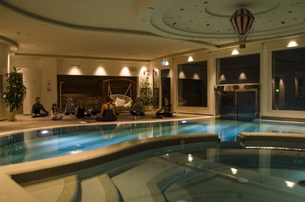 Yoga all'Hotel Miramonti di Acquapartita